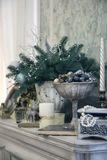 Christmas decoration in classic style Royalty Free Stock Images