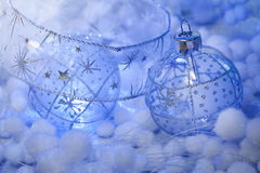 Christmas decoration clear balls Stock Image