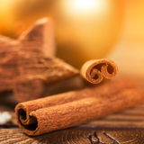 Christmas decoration, close-up, anise, cinnamon, star wood, Royalty Free Stock Image