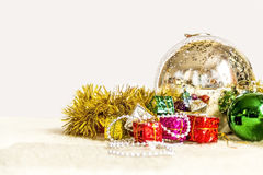 Christmas decoration close-up. On white background Royalty Free Stock Photos
