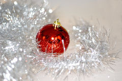 Christmas decoration close-up. On white background Stock Photo