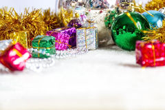 Christmas decoration close-up. On white background Stock Image