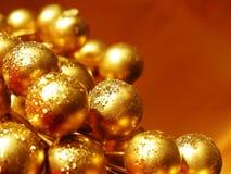 Christmas decoration closeup. Closeup of a golden christmas decoration Royalty Free Stock Image