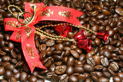Christmas decoration and coffee Royalty Free Stock Image