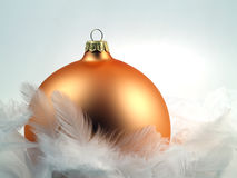 Christmas decoration with cold, wintery feel. Christmas decoration with feathers with cold, wintery feel Stock Photos