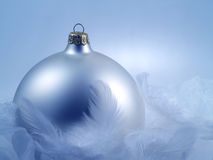 Christmas decoration with cold, wintery feel. Christmas decoration with feathers with cold, wintery feel Stock Images