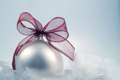 Christmas decoration with cold, wintery feel Royalty Free Stock Photography