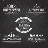 Christmas decoration collection of calligraphic Stock Images