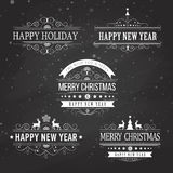 Christmas decoration collection of calligraphic Stock Photography