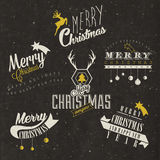 Christmas decoration collection for postcards and other Christmas design. Royalty Free Stock Images