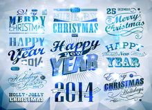 Christmas decoration collection. Christmas typography collection / Set of calligraphic and typographic elements Royalty Free Stock Image