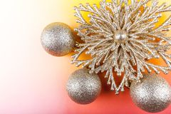 Christmas decoration on a colored background Royalty Free Stock Photo