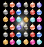 Christmas decoration colorful balls Royalty Free Stock Image