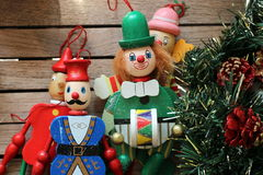 Christmas decoration Colorful marionettes Stock Photo