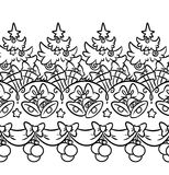 Christmas decoration Coloring page Royalty Free Stock Photo