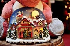 Christmas decoration. Colourful crystal ball Christmas decoration Stock Photo