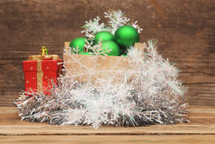 Christmas decoration composition Royalty Free Stock Images