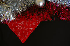 Christmas decoration composition bunting and tinsel Stock Images