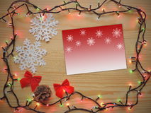 Christmas decoration composition  frame. Royalty Free Stock Photos