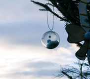Christmas decoration with condenstaion inside Stock Image