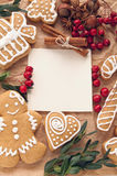 Christmas decoration with cookies Stock Photo