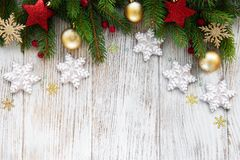 Christmas decoration with cookies royalty free stock photos