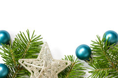 Christmas decoration with copy-space Stock Photography