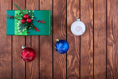 Christmas decoration with copy space Royalty Free Stock Photography