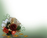 Christmas Decoration corner design Stock Image