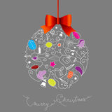 Christmas decoration created from many Christmas elements Royalty Free Stock Images