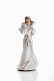 Christmas decoration, crib figurine, shepherd with lamb Royalty Free Stock Photography