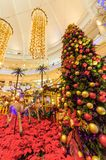 Christmas decoration in The Curve Mall which is located in Mutiara Damansara. People can seen exploring and shopping around it. Royalty Free Stock Photography
