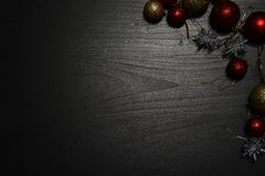 Christmas decoration on a dark background stock photography