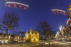 Christmas decoration at De Waag Stock Photography