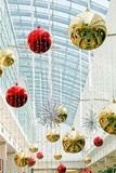 Christmas decoration. S in central part of the shopping mall Stock Image