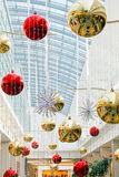 Christmas decoration. S in central part of the shopping mall Royalty Free Stock Photo