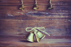 Christmas decoration. S and ornament on wooden background Royalty Free Stock Photography