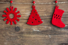 Christmas decoration. S and ornament on wooden background Stock Photography