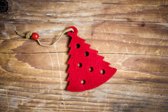 Christmas decoration. S and ornament on wooden background Stock Image