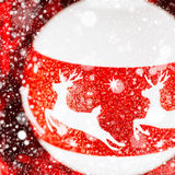 Christmas decoration with deer ornament Stock Photography