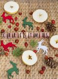 Christmas Decoration with Deers Royalty Free Stock Photo