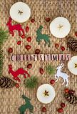 Christmas Decoration with Deers Stock Photo