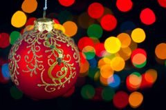 Christmas decoration on defocused Royalty Free Stock Photography