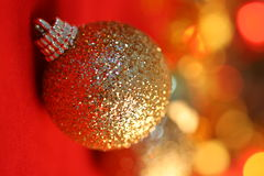 Christmas decoration on defocused lights backgroun Stock Images
