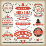 Christmas decoration  design elements Royalty Free Stock Photos