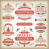 Christmas decoration  design elements Stock Images