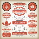 Christmas decoration  design elements Stock Photos
