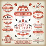 Christmas decoration  design elements Royalty Free Stock Images
