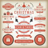Christmas decoration  design elements Royalty Free Stock Photography