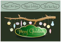 Christmas Decoration design. Vector illustration of Christmas decor design in eps 10 format Royalty Free Stock Images